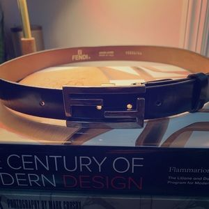 Vintage black Fendi belt